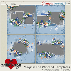 Magic In The Winter 4 Templates by CarolW Design
