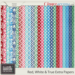 Red, White & True Extra Papers by Aimee Harrison