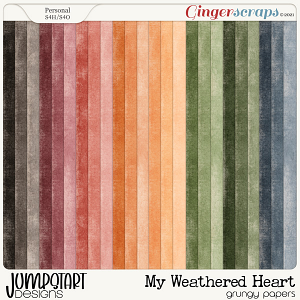 My Weathered Heart {Grungy Papers}