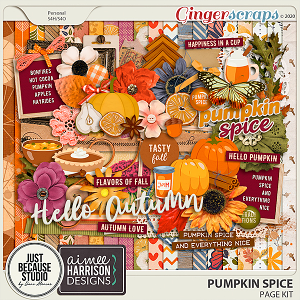 Pumpkin Spice Page Kit by JB Studio and Aimee Harrison Designs