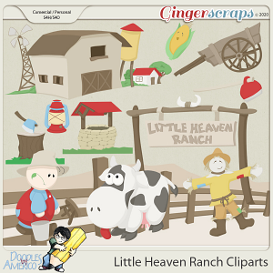 Doodles By Americo: Little Heaven Ranch Cliparts