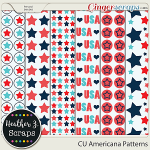 CU Americana PAPER TEMPLATES by Heather Z Scraps