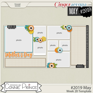 #2019 May - Week 20 Template Pack (CU Ok) by Connie Prince