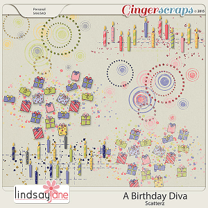 A Birthday Diva Scatterz by Lindsay Jane