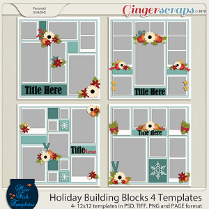 Holiday Building Blocks 4 Templates by Miss Fish