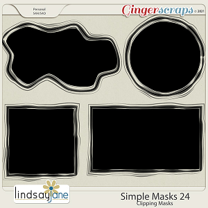 Simple Masks 24 by Lindsay Jane