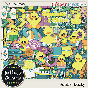 Rubber Ducky KIT by Heather Z Scraps