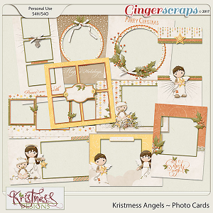Kristmess Angels Holiday Photo Cards