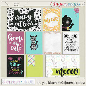 Are You Kitten Me? Journal Cards for Pocket Scrapbooking by Shepherd Studio