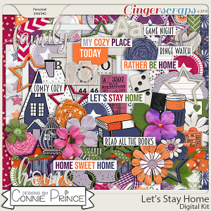 Let's Stay Home - Kit by Connie Prince