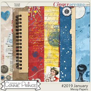 #2019 January - Messy Papers by Connie Prince