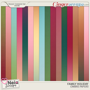 Family Holiday - Ombre Papers - By Neia Scraps