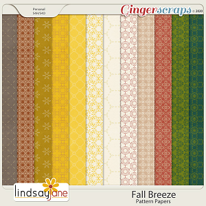 Fall Breeze Pattern Papers by Lindsay Jane