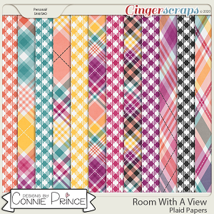 Room With A View - Plaid Papers by Connie Prince