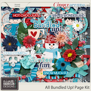 All Bundled Up Page Kit by Aimee Harrison