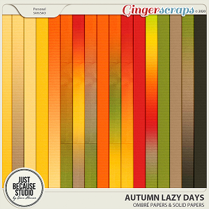 Autumn Lazy Days Ombré & Solid Papers by JB Studio