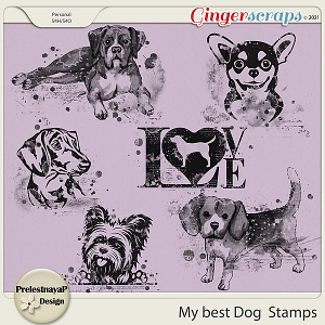My best Dog Stamps