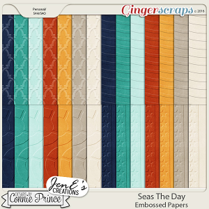 Seas The Day - Embossed Papers