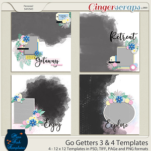 Go Getters 3 & 4 Templates by Miss Fish