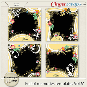 Full of memories Templates Vol.61