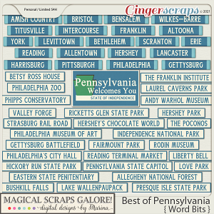 Best of Pennsylvania (word bits)