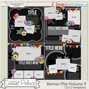 Banner Play Volume 9 - 12x12 Temps (CU Ok) by Connie Prince