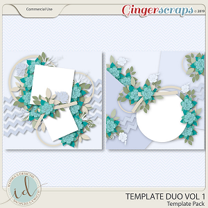 Template Duo Vol 1 by Ilonka's Designs