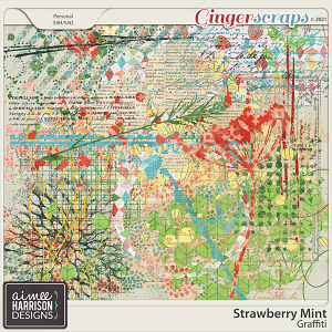 Strawberry Mint Graffiti by Aimee Harrison