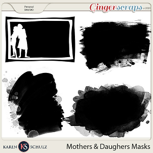 Mothers and Daughters Masks by Karen Schulz