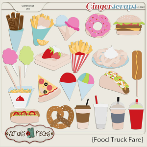 Food Truck Fare CU Layered Templates 2 - Scraps N Pieces