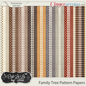 Family Tree Pattern Papers