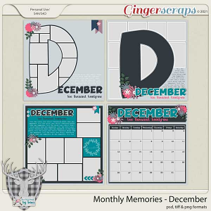 Monthly Memories - December by Dear Friends Designs by Trina
