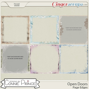 Open Doors - Page Edges  by Connie Prince