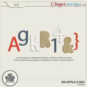 An Apple A Day Alphas by JB Studio