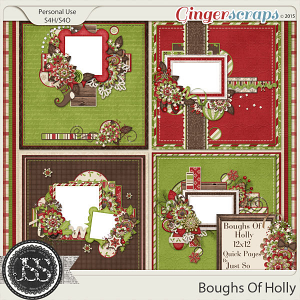Boughs Of Holly 12x12 Quick Pages