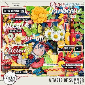 A Taste of Summer - Page Kit - by Neia Scraps