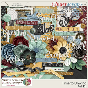 Time to Unwind Full Kit by Trixie Scraps Designs