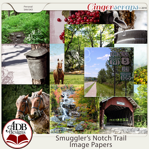 Smugglers Notch Trail Image Papers by ADB Designs