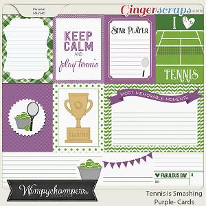 Tennis is Smashing- Purple Cards