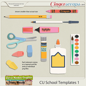 CU School Templates 1 by Clever Monkey Graphics
