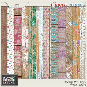 Rocky Mt High Wood Papers by Aimee Harrison