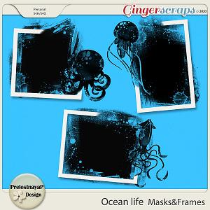 Ocean life Masks & Frames