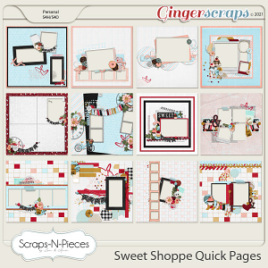 Sweet Shoppe Quick Pages by Scraps N Pieces