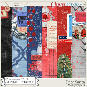 Dear Santa - Messy Papers by Connie Prince