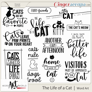 The Life of a Cat Word Art