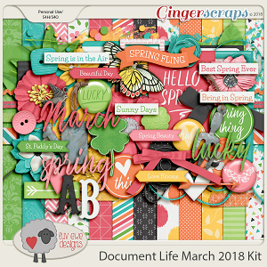 Document Life March 2018 Kit by Luv Ewe Designs