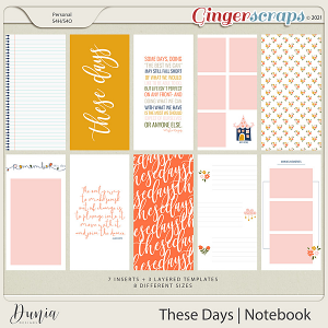 These Days | Traveler's Notebook by Dunia Designs
