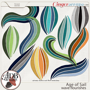 Age of Sail Wave Flourishes by ADB Designs