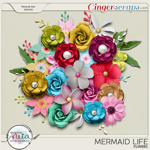 Mermaid Life - Flowers - by Neia Scraps