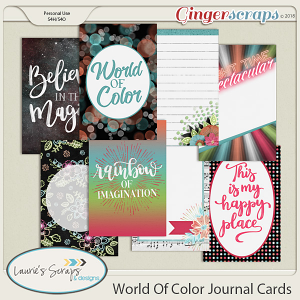 World of Color Journal Cards
